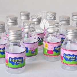 Kit festa infantil Peppa Pig-Frasco plástico